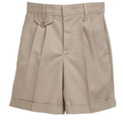 Khaki Pleat Short