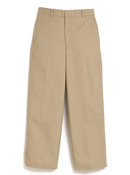 Wrinkle Free Super Soft Twill Flat Front Adjustable Waist Pant